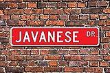 Unknow Javanese, amante giavanese, cartello giavanese, regalo di proprietario giavanese, gatto giavanese, decorazione gatto giavanese, cartello stradale personalizzato, cartello in metallo di qualità
