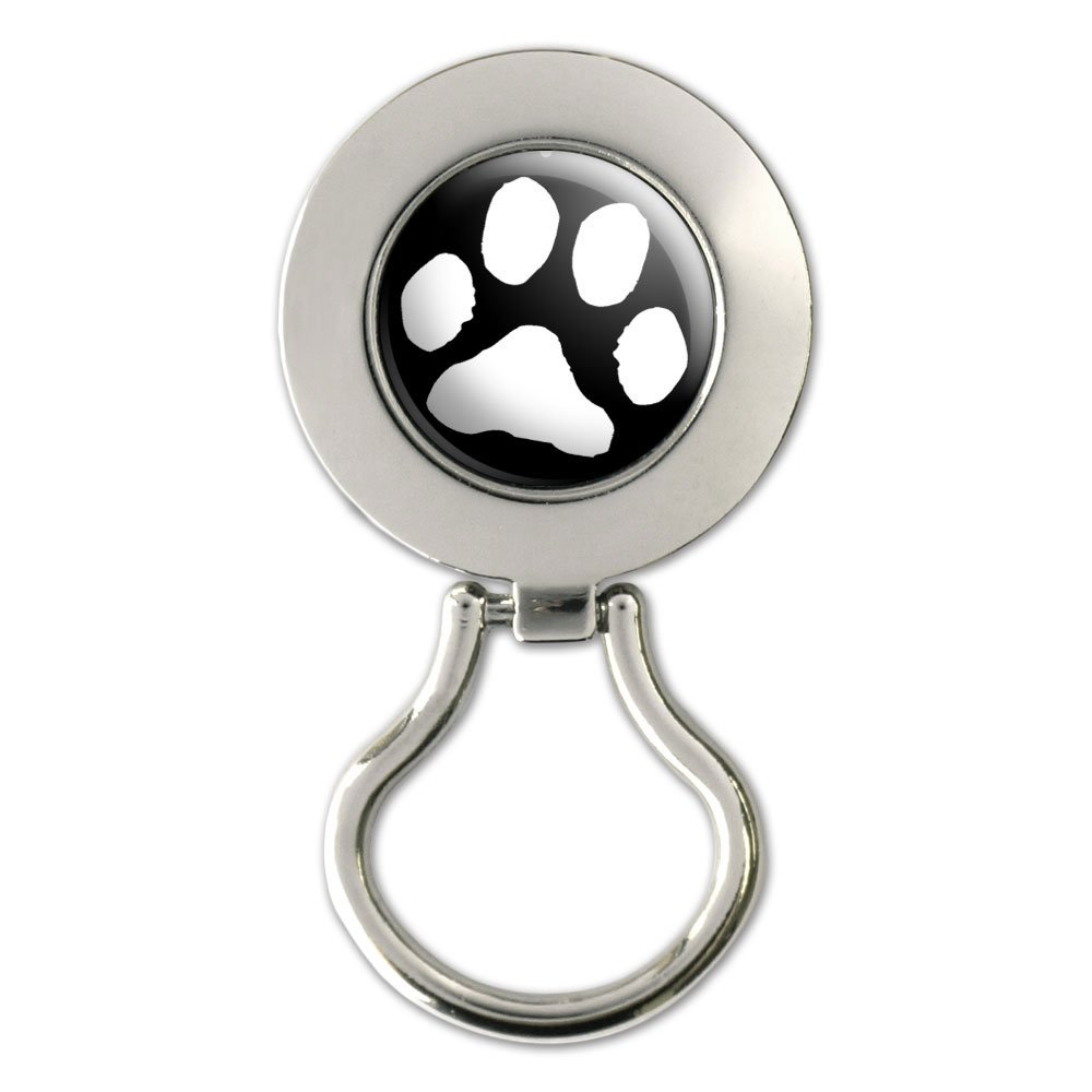 MANZHEN Tri-Colors Dog Paw Print Magnetic Badge Eyeglass Holder Brooch for Shirts