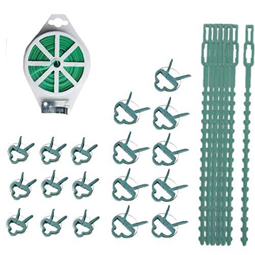 MICHAELA BLAKE Garten-Bindung Draht, Garten Twist Tie Pflanze Torsionriegel Pflanze Clip Set für Gewächshaus-Pflanzen-Blume