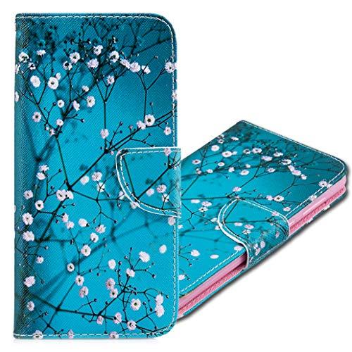 MRSTER Nokia 3310 Hülle Leder, Langlebig Leichtes Klassisches Design Flip Wallet Case PU-Leder Schutzhülle Brieftasche Handyhülle für Nokia 3310. BF Apricot Tree