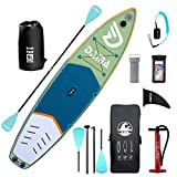 DAMA Inflatable Stand Up Paddle Board 11'x33 x6, Inflatable Yoga Board, Dry Bags, Camera Seat, Floating Paddle, Hand Pump, Board Carrier, Durable & Stable for 3 People