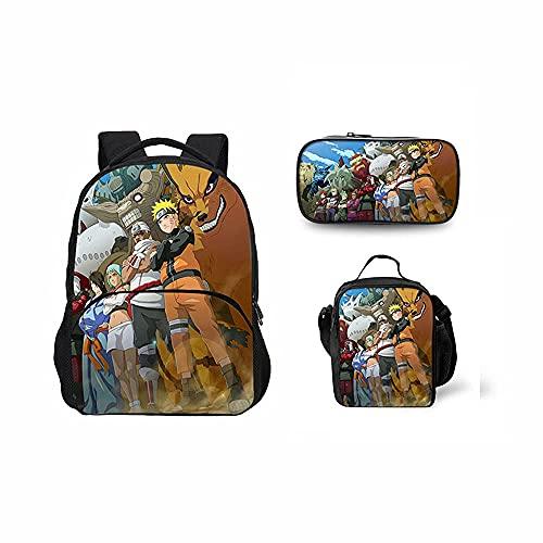 Naruto, zaino da lavoro o da lavoro, può essere utilizzato come borsa a tracolla, borsa da picnic, regalo per gli appassionati di anime., F, small