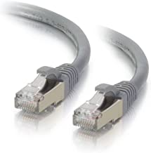 C2G 00640 Cat6a Cable - Snagless Shielded Ethernet Network Patch Cable, Gray (3 Feet, 0.91 Meters)