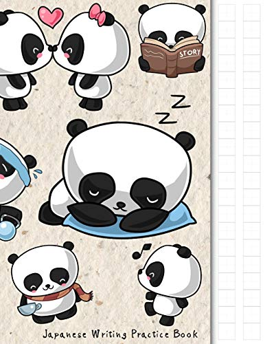Japanese Writing Practice Book: Kawaii Panda Themed Genkouyoushi Paper Notebook to Practise Writing Japanese Kanji Characters and Kana Scripts such ... Cornell Notes (Japanese Writing Notebooks)