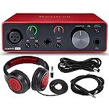 Focusrite Scarlett Solo USB Audio Interface (3rd Generation) + Samson SR360 Over-Ear Dynamic Stereo...