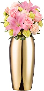 IMEEA Flower Vase Decorative Centerpiece for Home Wedding SUS304 Stainless Steel, 9.4