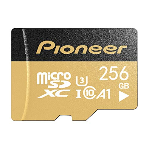 Pioneer - 256GB Scheda di memoria microSD di alta qualità, con adattatore, Class 10 U3 A1 V30, per 4K e UHD