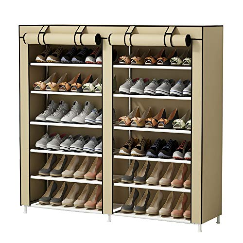 UDEAR Shoe Rack Portable 7 Tier Free Standing Shoe Organizer...