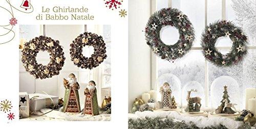 L'OCA NERA LE GHIRLANDE DI BABBO NATALE/ORO/VERDE/ARGENTO FUORIPORTA (PICCOLA, Ghirlanda fiori bianchi)