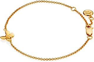Molly B London Girls 18ct Gold Vermeil & White Topaz Butterfly Bracelet   Jewelry Gift for Girls   Prom Gift   Flower Girl...