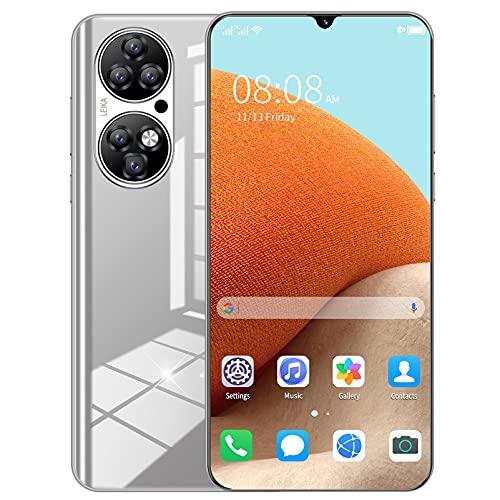 Teléfono Celular 4G, Smartphone AI HD Cámara Trasera Dual SIM Teléfonos Android Gratis con batería Grande de 5600mAh, 6.7 Pulgadas de Pantalla Completa, Face ID