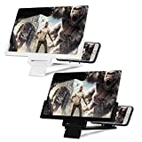 Mobile Phone Screen Magnifier, 2 Pcs 12 inch Foldable Screen Amplifiers for Smart