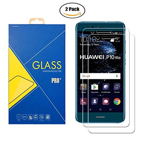 [2 Pack] Panzerglas Schutzfolie Kompatibel Huawei P10 Lite / WAS-L03T – Gehärtetem Glas Displayschutzfolie Anti-Scratch Shockproof