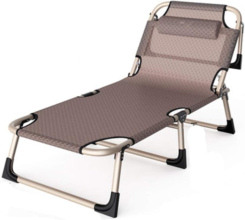 Campingliege Sommer Breathable Einzelnes Faltendes Bett Feldbett Einfaches Bewegliches Bett Nicht Stickig (Größe   A)