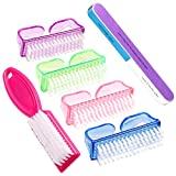 6 Pieces Nail Brush Nail Hand Scrubbing Cleaning Brush(Multicolor)...