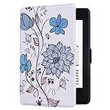 Huasiru Pintura Caso Funda para Kindle Paperwhite (Versiones 2012, 2013, 2015, 2016 y 2017), no es Compatible con la versión del 2018 (10.ª generación) - Las Flores
