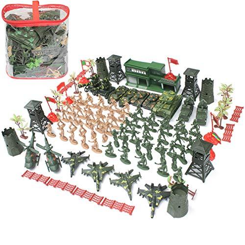 122 Pc Plastic Mensen Van Het Leger Plus Gegoten Military Toy Vehicles Speel Set Children's Toy Soldier Set Psychological Sand Table Model Van Scene War Militaire