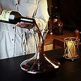 Amisglass Dekanter, Weinbelüfter Dekantierer für Rotwein, Mit Zubehör (Korkverschluss) - 100% bleifreie Weinkaraffe aus Kristallglas - Weinbelüfter Dekantierer für Rotwein - Einzigartige Geschenkidee - 5