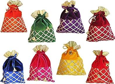 muccasacra Women's Potli (Set of 8) (529_Multicolored)