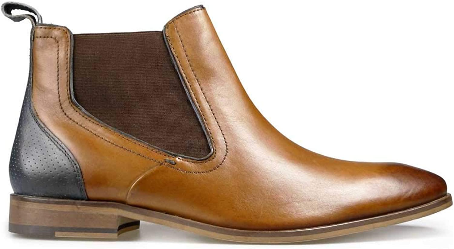Pod Mens Chelsea Boot (Phoenix 2) in Cognac-Navy