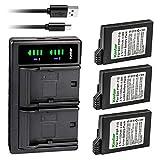 Kastar 3-Pack PSP 110 Battery and LTD2 USB Charger Replacement for Sony PSP-2009, PSP-2010, PSP-3000, PSP-3001, PSP-3002, PSP-3003, PSP-3004, PSP-3005, PSP-3006, PSP-3007, PSP-3008, PSP-3009, PSP-3010