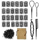 24 Pièces Perles viking,kit de bijoux pour barbes, tresse d