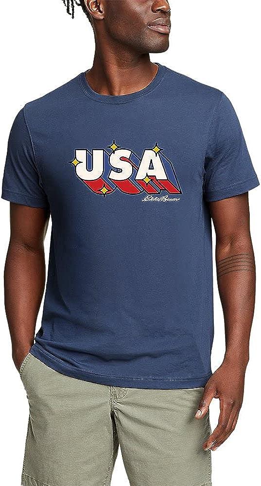 Eddie Bauer Men's Graphic T-Shirt - Retro USA