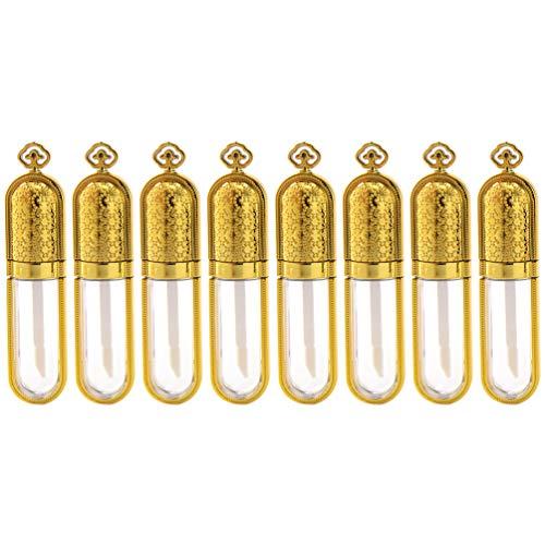 Minkissy Bouteilles de Brillant à Lèvres 10 Pcs Baume Conteneur Vide Brillant à Lèvres Tubes Bouteille D'échantillon Cosmétique pour Parfum Brillant à Lèvres Huile Essentielle 5 ML