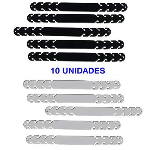 Salvaorejas para Mascarillas – Protector de Oreja con Ganchos de Ajuste fabricado en Silicona Blanda (10 x ADULTO)