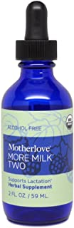 Motherlove More Milk Two Alcohol Free Tincture (2oz) Herbal Lactation Supplement for Tandem Nursing—Supports Breast Milk S...