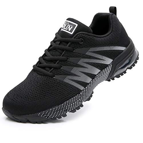 Axcone Damen Herren Sneaker Laufschuhe Air Sportschuhe Kletterschuhe Turnschuhe Running Fitness Sneaker Outdoors Straßenlaufschuhe Sports 8995 BK 46EU