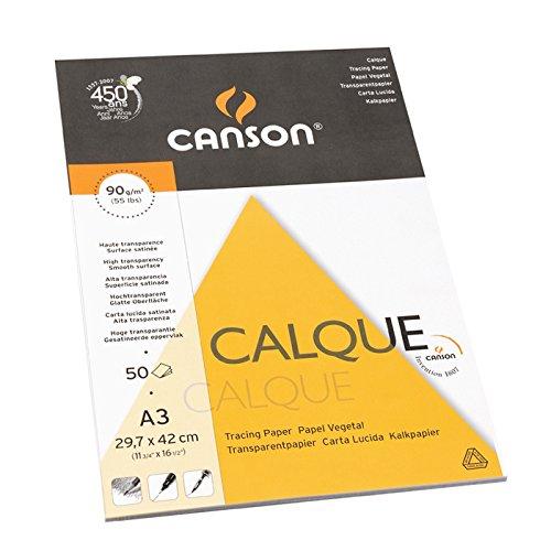Bloc Enc A3, 50 Hojas, Canson Vegetal Graphic Microfino 95g