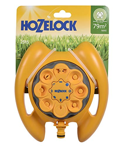 Hozelock - Aspersor Multi para superficies de hasta 79 m² con 8 tipos de riego