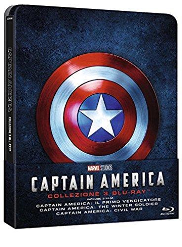 Captain America - La Collezione Completa (Steelbook) (3 Blu-Ray) [Italia] [Blu-ray]