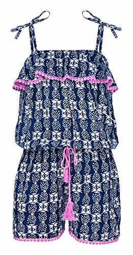 Snapper rok meisjes mode jumpsuit voor strand- of zwembad, zomerstrandmode