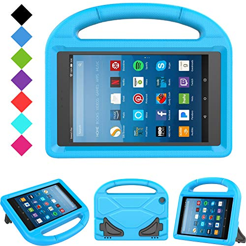 Kids Case for Fire HD 8 - TIRIN Light Weight Shock Proof Handle Kid-Proof Cover Kids Case for Amazon Fire HD 8 Tablet (7th and 8th Generation Tablet, 2017 and 2018 Release) NOT for 2020 Fire 8, Blue