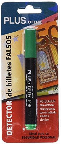 1x Rotulador Plus Office Detector Verificador de Billetes Falsos de Euros