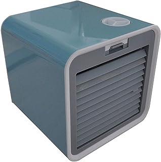 FuLov Aire Acondicionado Personal Ventilador De Aire | 10 W | 3 Velocidades 3 Niveles De Enfriamiento, | 40Db De Poco Ruido | Tanques De Agua De 380 Ml | Azul Negro,Azul