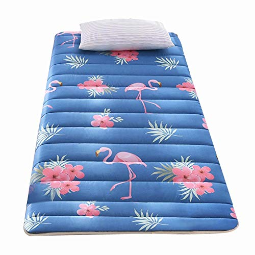 WCOLAS Futon Furniture Traditional Japanese Floor Mattresses,Tatami Foldable Cushion Mats,Pack N Play Crib-Best as Adult Guest Bed,Yoga,Camping Cot,RV,Floor Mat