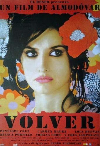 Volver - Zurückkehren: Schwarze Schrift (2005) | Filmplakat, Poster [68 x 98 cm]