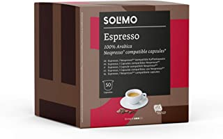 Marchio Amazon - Solimo Capsule Espresso, compatibili Nespresso - 100 capsule (2 x 50)