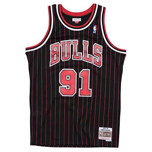Mitchell & Ness NBA Chicago Bulls Dennis Rodman Trikot Herren schwarz/rot, L