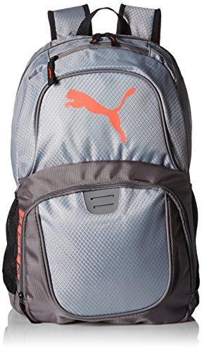 PUMA Herren Evercat Contender 3.0 Backpack Rucksäcke, Gray/Coral, Einheitsgröße