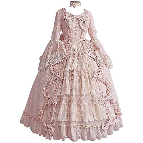 Disfraz medieval renacentista para mujer, vestido de princesa, vestido largo gótico, disfraz de cosplay retro