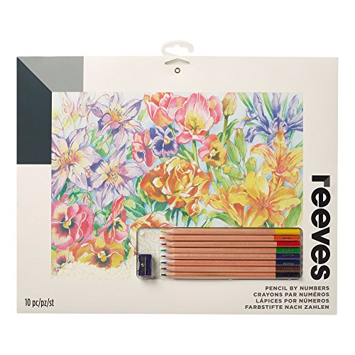 """Reeves Colored Pencils by Numbers 12"""" x 16"""" , Floral"""