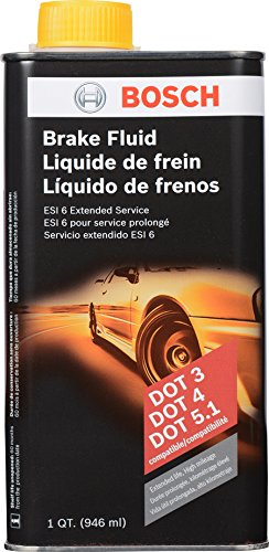 Bosch ESI6-32N Brake Fluid (Direct Replacement for DOT 3, DOT 4, and DOT 5.1) - 1 Quart