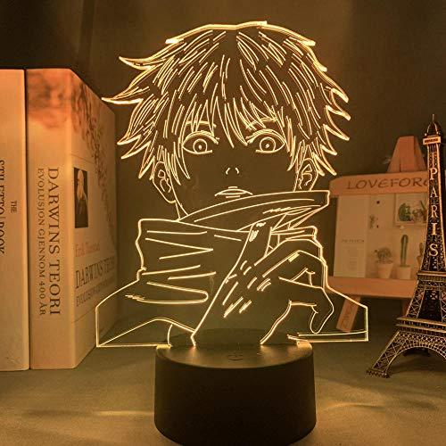 3D Animation Dekorative Lichter Anime Lampe Satoru Gojo Licht Jujutsu Kaisen LED Nachtlicht für Geburtstag Geschenk Jujutsu Kaisen Nachtlicht Satoru Gojo Lampe Neujahr Geschenk