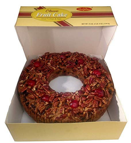 Jane Parker Classic Light Fruit Cake 72 Ounce Ring (4.5 Pound) Fruitcake in a Box