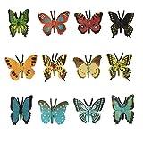 Larcele 12 Clases Simulado Mini Animal Modelo de Plástico Mariposa Figuras de Juguete para Niños DWMX-02 (Mariposa)