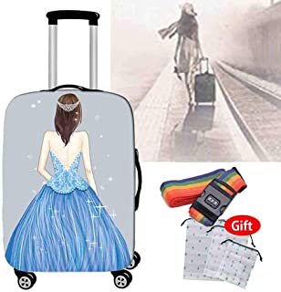Travel Suitcase Cover Anti-Wear Anti-Skid Anti-Theft Protective Cover Home Waterproof Dust with Storage Bag